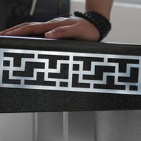 Wholesale Mirror Corners - Ceiling decorative corner diagonal line stereoscopic 3D acrylic mirror Wall Stickers new 2016 European and American fashion
