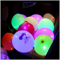 Barato Balão Luzes Suprimentos Atacado-LED Lights Colorful Luminous Balloon Flashing Wedding Party Decorações Holiday Supplies Color Luminous Balloons Wholesale LZ0436