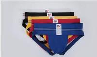 Wholesale Male Lace Bikini - Fine New Soft Jockstrap G String Jock Strap Underwear Thong Men Sexy Sleepwear Male Thong Penis Pouch Gay Sexy Wear Bikini Shorts