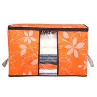 bambus kleidung großhandel-Neueste 60 * 40 * 35 cm Faltbare Blume Gedruckt Quilt Sortierung antibakterielle Kleidung Organizer Taschen Aufbewahrungstasche Box Qualität zuerst