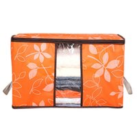 Wholesale Green Quilts - Newest 60*40*35cm Foldable Flower Printed Quilt Sorting Anti-bacterial Clothing Organizer Bags Storage Bag Box Quality First