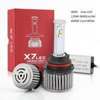 led hayranları toptan satış-Yeni Araba LED Işık 9004 LED Far 12 V 120 W Beyaz 6000 K 9600Lm LED Ampul Hi / Düşük Işın Su Geçirmez Soğutma Fanı Evrensel LED Lamba
