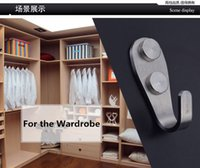 Wholesale hardware nails online - High quality Stainless steel Hook Towel Clothes Single Hooks Kitchen Bathroom Wardrobe Hardware Storage rack in