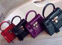 Wholesale Dark Red European Beads - The new trend of the crocodile grain single shoulder bag handbag designer handbag