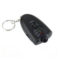 Wholesale Keychain Breathalyzer Wholesale - with Retail Box Portable mini Keychain LED Alcohol Breath Tester Breathalyzer with FlashLight Free DHL
