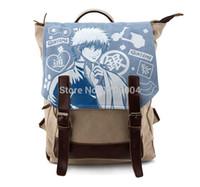 Wholesale Gintama Bag - Free Shipping Anime Manga Gintama Silver Soul Backpack Shoulder Bag Children Backpack 42*29*15cm 005