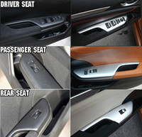 Wholesale Door Trim Protector - For Honda CIVIC 2016 2017 car door window lift cover protector trim chromium styling for glass and windows lever