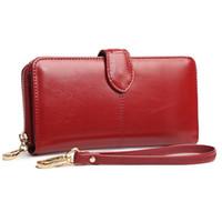Wholesale Mobile Phone Hand Bag - Designer Wallet Ladies Hand Clutch Bags Women PU Leather Bag Mobile Phone Card Holder Bags Long Purse Female Wallet New Zipper Bag