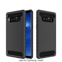 kaplama telefon çini toptan satış-Samsung Not 8 için toptan cep telefonu aksesuarları çin samsung galaxy not 8 için karbon fiber hibrid durumda kılıf darbeye