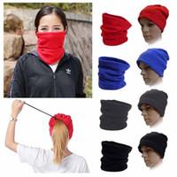 esporte aquecedor lenço lenço venda por atacado-3 em 1 Multi-Função Cachecol Neck Warmer Máscara Máscara Chapéu de Esqui de Inverno Ciclismo Quente Beanie Homens Mulheres Cap Esporte Atacado