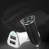 Wholesale Lumia Usb Charger - Dual USB Car Charger 2.4A Smart Car-Charger Portable Charger for iPhone 7 Plus Samsung Galaxy S8 Lumia 950