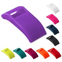 Wholesale Silicon Plugs - 10 Multi Colors Silicon TPU Digital-watch Case Cover For Fitbit Charge HR With dust plug function Free DHL Shipping