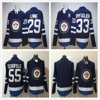 300bdb685 Ice Hockey Men Full 2018 New Season Winnipeg Jets  33 Dustin Byfuglien  Jersey Cheap Navy