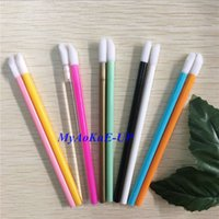 Wholesale Beauty Plastic Disposable - 500 Pcs 10 Colors Lipstick Gloss Disposable Lip Brush Pen Wands Applicator Brush Professional Beauty Makeup Tools