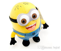 """Wholesale Despicable Plush 25cm - Despicable ME Toy Movie Plush Toys 6"""" 25cm Minion Jorge 3D eyes Stewart Dave NWT with tags Free shipping"""