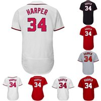 Wholesale Blue Anthony - 34 Bryce Harper Trea Turner 28 Werth 31 Scherzer 20 Daniel Murphy Anthony Rendon 11 Zimmerman 37 Strasburg Giolito Baseball Jersey