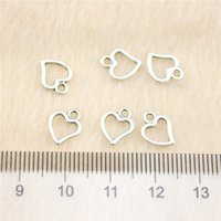 Wholesale 500Pcs mm antique Silver Tonetiny heart Charms Zinc Alloy DIY Handmade Jewelry Pendants