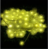 Wholesale Christmas Hairy - Battery Power flashing led string lights dandelion hairy balls LED night light Outdoor Halloween Fairy lights party Christmas decoration
