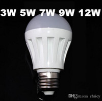 Wholesale cheap bedroom lamps - E14 E27Led cheap Bulb 3W 5W 7W 9W 12W 110V 220V Warm Cold White smd2835 plastic led lamp