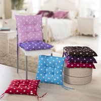 Wholesale Tatami Chairs - Thicken Seat Cushion Chair Tatami Mat Wave Dot Pattern Practical Home Office Car Soft Pillow Multi Color Optional 4pj F R