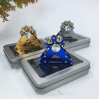Wholesale toy machine wheels resale online - Metal Ferris Wheel Fidget Spinners Machined Spinner with Steel Balls Colors Aluminum Alloy Hand Spinners EDC Decompression Fidget Toys dhl