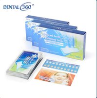 Wholesale Oral Mask - whitening tooth strip paste anti sensitive teeth whitening mask Mint non peroxide toothpaster 14 Pouches 28 Strips Oral Hygiene