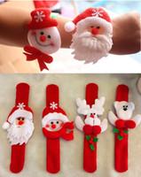 Wholesale Snowman Ornaments Sale - New Sale 12Pcs lot Christmas ornaments kids christmas gift Wrist Strap Watch Bracelet Christmas Supplies for kids Santa Claus Snowman Deer