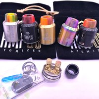 Wholesale Post Springs - Screwless Ampus RDA Atomizer with Spring Posts BF Pin and Epoxy Resin 810 Drip Tip 24.5mm Fit 510 Mods DHL Free