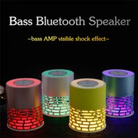 Q5 Mini auscultadores sem fio estéreo sem fio Bluetooth Music Speaker Colorido LED Flash Night Light Suporte TF Card Touch Key AS Bed Lamp Decoration