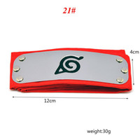 Wholesale Naruto Anime - PrettyBaby ANIME Naruto Headband 95cm Leaf Village Logo Konoha Kakashi Akatsuki Members Cosplay Costume Accessories blue red black in stock