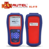 Wholesale Autel 419 - Wholesale-2016 Top selling 100% original Autel AutoLink AL419 OBDII EOBD & CAN Code Reader High quality AL 419 Free shipping