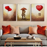 Vintage Romantic Valentine Love Heart Balloon Poster Modern Girl Room Wall Art Print Imagem Canvas Painting Home Deco No Frame