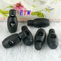 Wholesale Cord Stoppers Wholesale - Free Shipping Wholesale High Quality Nylon Cord Lock 28*12.5MM 2 Holes Nylon Bowling Stopper Lock Stopper 200 pcs lot