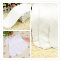 3-9 Months organic napkins - Napkin Us Promotion Layers Organic Cotton Insert Baby Cloth Diaper Nappy Insert Breathable Diapers Fiber