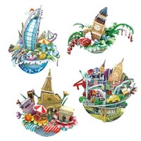 Wholesale 3d City Puzzles - Jigsaw 3D Puzzle The Epitome Of The City Model For Kids Educational Toy Learning Toy Free Shipping