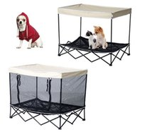 Wholesale Outdoor Pet Bed Puppy Cat Dog Elevated Foldable Kennel Instand Camping Shade Bag