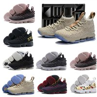 Wholesale Casual Shoes Us11 - (With box)new Ashes Ghost Lebron 15 Basketball Shoes Lebron shoes Arrival LBJ Sneakers 15s Mens Casual Shoes James 15 US 7-12