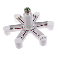 Wholesale Lamp Socket Splitter - 1 To 7 LED lamp Base Socket E27 LED Lamp Light Bulb Base Socket Splitter Holder Converter