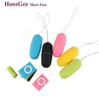 Wholesale Vibrator Mp3 Wireless Remote Bullet - HoozGee Classic Portable Wireless Remote Control MP3 20 Speed Vibrators for Women Vibrating Egg Body Massager Sex Products