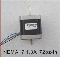Wholesale Nema Stepper - Dual Shaft NEMA 17 Stepper Motor 52N.cm (72 oz-in) Body Length 48mm CE Rohs CNC 3D Printer Motor