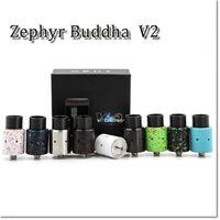 atomizador rda clon al por mayor-Alta calidad Zephyr Buddha V2 RDA Clon Buddah Rebuidable Atomizador 26650 RDA Atomizador 510 hilo Vaporizador RDA Fit 26650 Mods