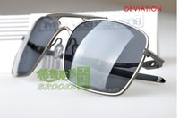 Wholesale Bicycle Top Box - New In Box Deviation Polished POLLARIZED LENS Top quality Sunglasses Cycling Outdoor Sports bicycle Eyewear for men's