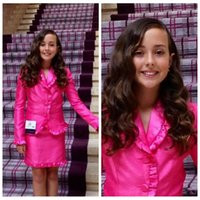 Wholesale Girls Business Wear - V-Neck Fuchsia Girls Pageant Gowns Custom Made Prom Ball State National Beauty Pageant Interview Face Formal Wear Business
