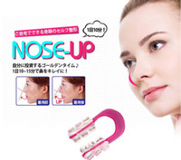 Wholesale Make Nose Beautiful - 500pcs lot Top Quality Beautiful Nose Up Nose Lifting Clip For making nose higher more beautiful perfect face best Nose Shaping Clip