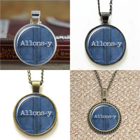Wholesale bracelet y for sale - 10pcs Doctor Who Inspired Allons y glass Dome Pendant Necklace keyring bookmark cufflink earring bracelet