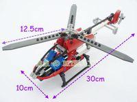 Wholesale Plane Brick Block - 150pcs Set TECHNIC 3336 Whirl Ybird DIY Rescue Helicopter Plane Model Building Blocks Construction Bricks Children Gift Learning Toys