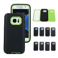 Wholesale Galaxy Triple Case - For Samsung Galaxy S7 edge Triple Layer Armor Defender Case TPU Hybrid Rugged Slim PC Silicone Shockproof Hard Back Cover Shell