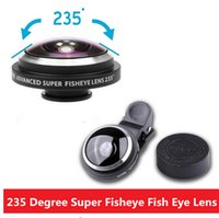 Wholesale Detachable Lens - Universal Detachable Clip on 235 Degree Super Fisheye Fish Eye Camera Lens for iPhone5S 6 6plus SamsungS5 S6edge S7 Smartphones