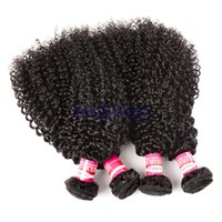 Indian Kinky Curly Weave 3/4 Bundles Lots Hair Bundles 100g 10-28 inches Natural Color Remy Hair Extensions Frete grátis