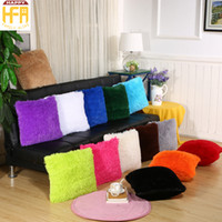 Wholesale Office Room Colors - 43*43Cm Sofa Cushions Cushion Cover Pillow Cases Living Room Office Sofa Fleece Pillow Covers Backrest Cushion Cover Multi Colors